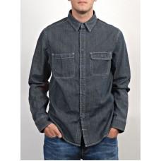 Element THE BYGONE INDIGO RINSE pánská košile dlouhý rukáv - M