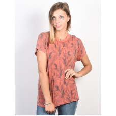 RVCA SUSPENSION RED CLAY dámské tričko s krátkým rukávem - S