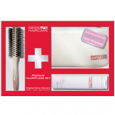 Swiss Haircare Premium Repair Paddle Brush + etue + 200 ml šampon dárková sada