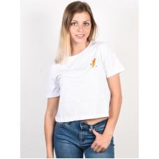 Element YAWYD CROP white dámské tričko s krátkým rukávem - S