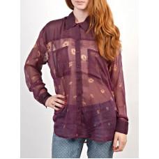 RVCA ANI PURPLE HAZE dámská košile dlouhý rukáv - S