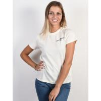 RVCA SMITH STREET ANTIQUE WHITE dámské tričko s krátkým rukávem - M