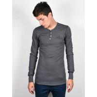 Ride Henley CHARCOAL pánské tričko s dlouhým rukávem - XL