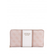 GUESS peněženka Cathleen Check Organizer blush vel.