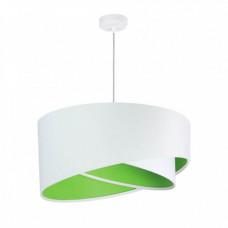 Závěsné svítidlo Awena, bílá + zelený vnitřek