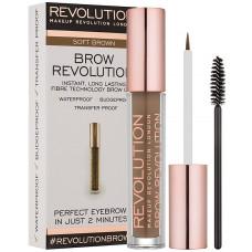 Makeup Revolution London Brow Revolution 3,8ml - Soft Brown