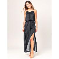 Rip Curl ISLAND black luxusní plesové šaty dlouhé - L