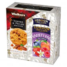 Dárková sada Ovocné čaje London, Pekanové sušenky Walkers