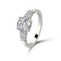 OLIVIE Stříbrný prsten VYZNÁNÍ LÁSKY 4234 Velikost prstenů: 8 (EU: 57 - 58)