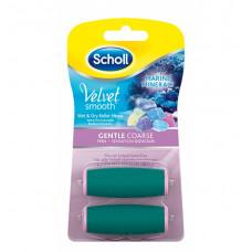 Scholl Velvet Smooth náhradní hlavice s mořskými minerály jemně drsná 2ks