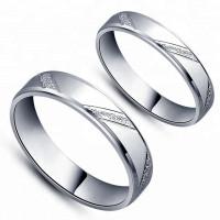 OLIVIE Snubní prsten ze stříbra 3643 Velikost prstenů: 7 (EU: 54 - 56)