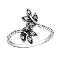 OLIVIE Stříbrný prsten VĚTVIČKA se zirkony 2483 Velikost prstenů: 6 (EU: 51 - 53)