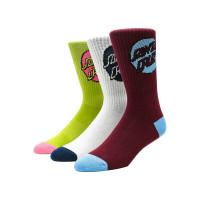 Santa Cruz Pop Dot 3 Pk ASSORTED moderní barevné dámské ponožky