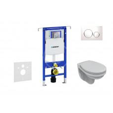 Geberit Sada pro závěsné WC + klozet a sedátko softclose Ideal Standard Quarzo - sada s tlačítkem Sigma20, bílá/lesklý chrom/bílá 111.355.00.5 ND4
