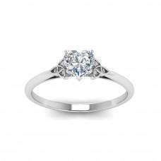 OLIVIE Stříbrný prstýnek se srdíčkem 2175 Velikost prstenů: 5 (EU: 47 - 50)