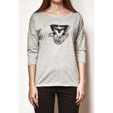 Vehicle MARLEN grey heather dámské tričko s dlouhým rukávem - L