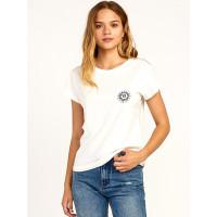 RVCA TIGRE Vintage White dámské tričko s krátkým rukávem - M
