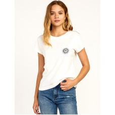 RVCA TIGRE Vintage White dámské tričko s krátkým rukávem - S