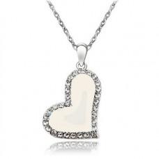 Náhrdelník Srdíčko - 4 barvy Barva: Bílá