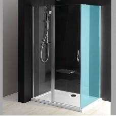 GELCO - ONE sprchové dveře s pevnou částí 1000 mm, čiré sklo (GO4810)