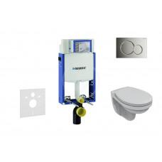 Geberit Sada pro závěsné WC + klozet a sedátko Ideal Standard Quarzo - sada s tlačítkem Sigma01, chrom 110.302.00.5 NR2
