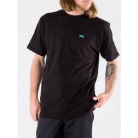 Vans LEFT CHEST LOGO Black/Waterfall pánské tričko s krátkým rukávem - L