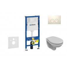 Geberit Sada pro závěsné WC + klozet a sedátko Ideal Standard Quarzo - sada s tlačítkem Delta21, bílé 458.103.00.1 NR1