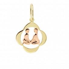 Zlato Zlatý přívěsek znamení zvěrokruhu 3220065 Znamení zvěrokruhu: Blíženci