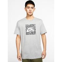 Nike SB TRIANGLE HBR GREYHEATHER/WHT pánské tričko s krátkým rukávem - XL