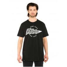 Horsefeathers FLASH black pánské tričko s krátkým rukávem - L