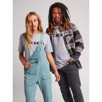 Burton VAULT Gray Heather pánské tričko s krátkým rukávem - XL