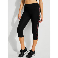 GUESS legíny Logo-Trim Cropped Leggings černé vel. XS
