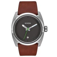 Nixon KINGPIN LEATHER SILVERBROWN pánské hodinky analogové