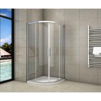 Čtvrtkruhový sprchový kout SYMPHONY S4 90 cm s dvoudílnými posuvnými dveřmi