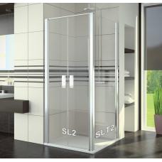SanSwiss SL2 0750 50 07 Sprchové dveře dvoukřídlé 75 cm, aluchrom/sklo