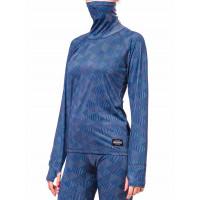 Horsefeathers BASE NECK blue carousel dámské thermo prádlo - S