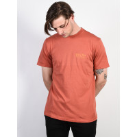 RVCA RVCA SQUIG RED CLAY pánské tričko s krátkým rukávem - XL