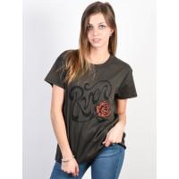 RVCA BLOOM GREYSKULL dámské tričko s krátkým rukávem - S