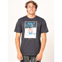 Rip Curl GOOD DAY BAD DAY washed black pánské tričko s krátkým rukávem - XL