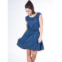 Alife and Kickin SCARLETT A Dark Denim Circles společenské šaty krátké - XL