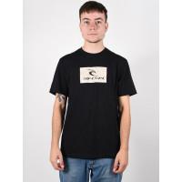 Rip Curl HALLMARK black pánské tričko s krátkým rukávem - M