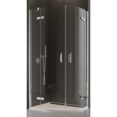 SanSwiss PU4P 50 080 10 07 Sprchový kout čtvrtkruhový 80 cm, chrom/sklo