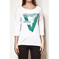 Vehicle ATLAS white dámské tričko s dlouhým rukávem - L
