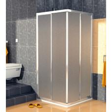 SanSwiss ECOAC 0700 50 22 Sprchový kout čtvercový 70×70 cm, aluchrom/durlux