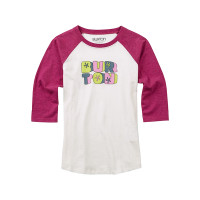Burton HOLLIE RAGLAN STOUT WHITE dětské tričko s dlouhým rukávem - M