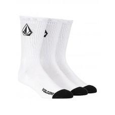 Volcom Full Stone 3Pk white moderní barevné pánské ponožky