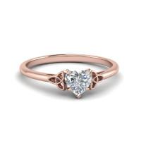 OLIVIE Stříbrný prstýnek ROSE se srdíčkem 3364 Velikost prstenů: 7 (EU: 54 - 56)