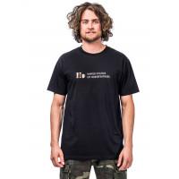 Horsefeathers UNITED COLORS black pánské tričko s krátkým rukávem - XXL