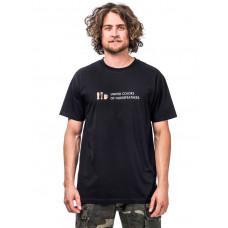 Horsefeathers UNITED COLORS black pánské tričko s krátkým rukávem - S