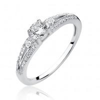 OLIVIE Stříbrný zásnubní prsten 4211 Velikost prstenů: 8 (EU: 57 - 58)